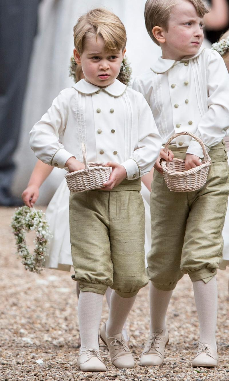 Prince Georgein his page boy outfit.