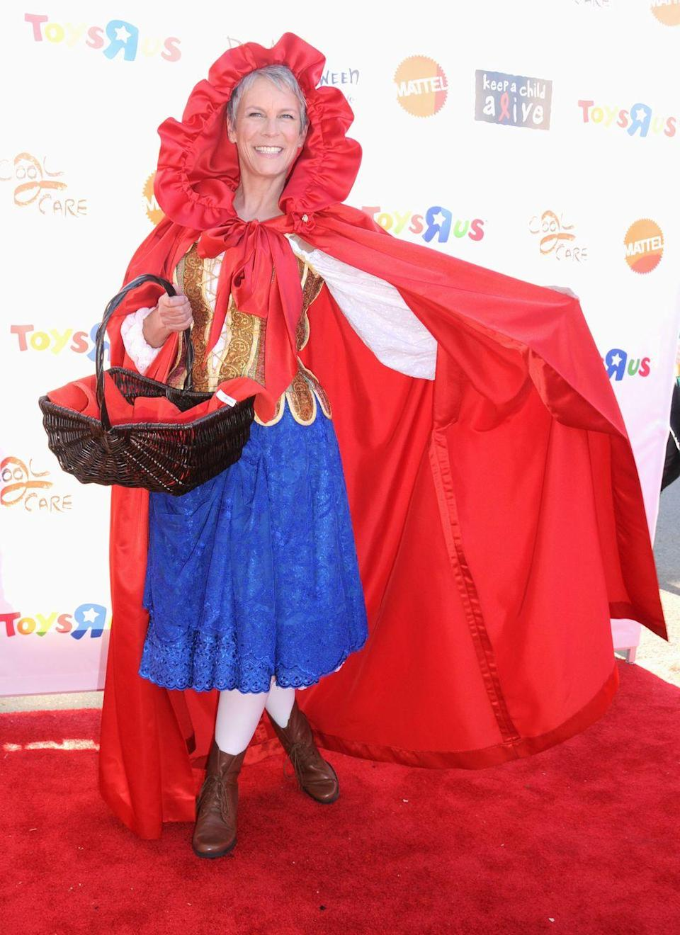 <p>Who knew the path to grandma's included a red carpet? The actress's costume was spot-0n and adorable when she attended a 2011 Halloween event in LA. </p>