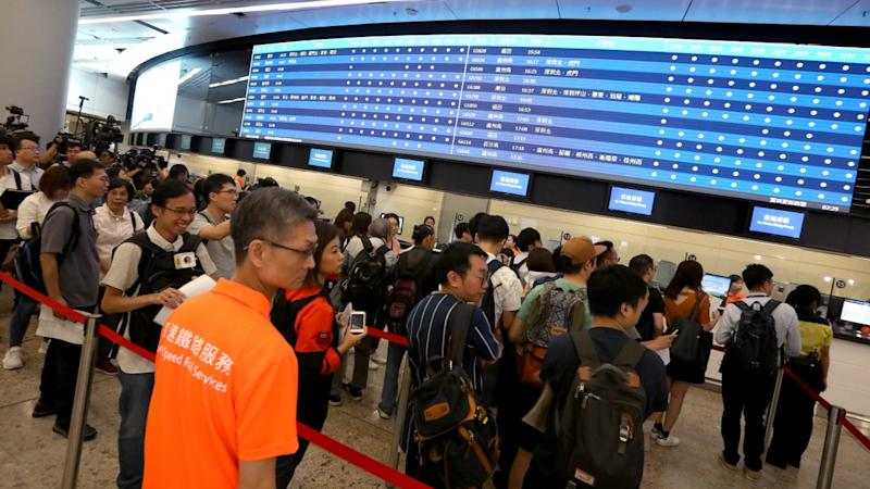 Ticket sales for Hong Kong's high-speed railway off to bumpy start on first day of sale amid glitches in payment systems