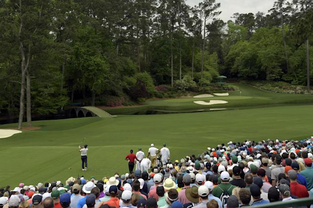 """<h1 class=""""title"""">molinari 12th 2019 Masters</h1> <div class=""""caption""""> during the third round of the 2019 Masters Tournament held in Augusta, GA at Augusta National Golf Club on Sunday, April 14, 2019. </div> <cite class=""""credit"""">Dom Furore</cite>"""