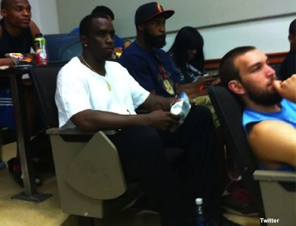 Diddy Combs in class at UCLA