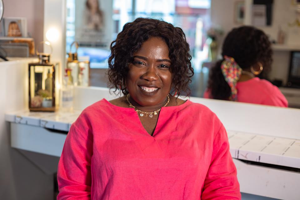 Sandra Atoge owns a hair salon in Derry, Northern Ireland, that welcomes everyone. (Black Ballad)