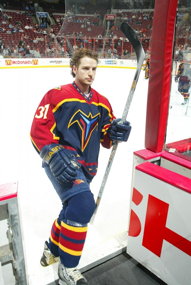 <p>Cause of death: Snyder was critically injured when a car driven by then-teammate Dany Heatley went out of control and crashed. Snyder died six days later due to septic shock. Heatley eventually pled guilty to second-degree vehicular homicide and other speeding-related chargers, getting three months probation and fines after Snyder's family asked that he not go to prison. </p>