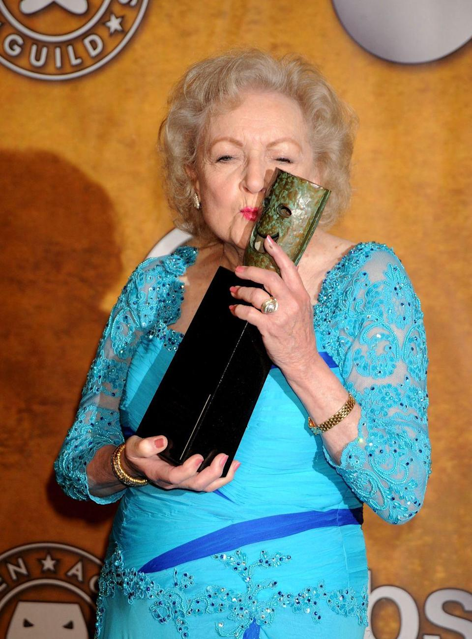 <p>After years in television, Betty was recognized by the Screen Actors Guild with a Lifetime Achievement Award in 2010. The actress was presented the award by her <em>The Proposal </em>costar, Sandra Bullock. <br></p>
