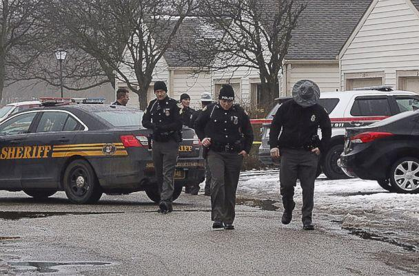PHOTO: Police investigate the scene of a shooting in Westerville, Ohio, Feb. 10, 2018. (Tom Dodge/The Columbus Dispatch via AP)