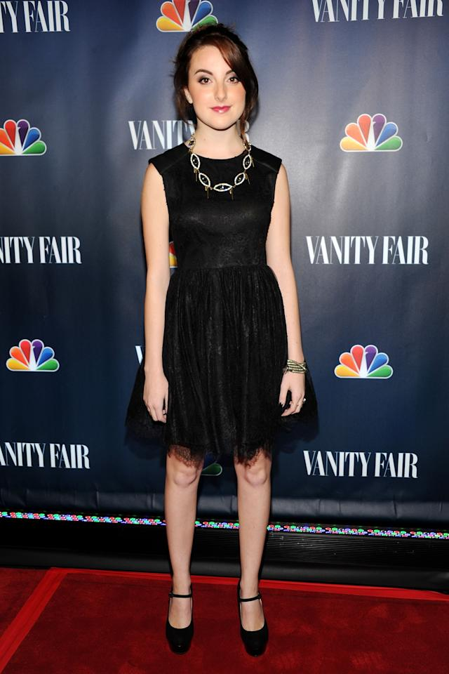 NEW YORK, NY - SEPTEMBER 16: Actress Juliette Goglia attends NBC's 2013 Fall Launch Party Hosted By Vanity Fair at The Standard Hotel on September 16, 2013 in New York City. (Photo by Ben Gabbe/Getty Images)