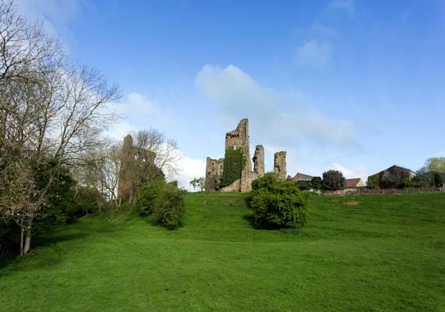 <p>The grounds at Sheriff Hutton Castle in North Yorkshire. (Photo: Caters News) </p>