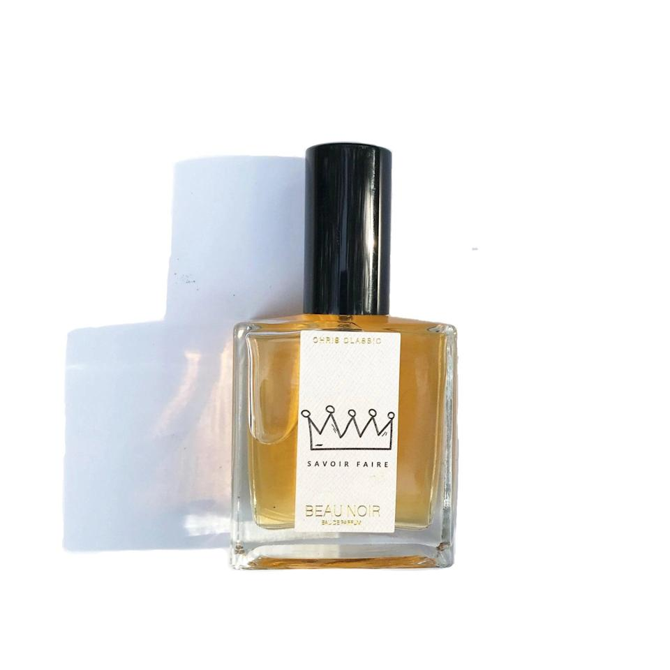 """<h3>Savoir Faire</h3><br>These luxe hand-blended <em>eaux de parfum</em> were created by artist and songwriter Chris Classic with men in mind, but fragrance knows no gender — especially in the case of this warm, rich blend that highlights heady notes of amber, patchouli, cannabis flower essence, and cedarwood.<br><br><strong>Savoir Faire</strong> Beau Noir Eau De Parfum, $, available at <a href=""""https://go.skimresources.com/?id=30283X879131&url=https%3A%2F%2Fsavoirfaire.store%2Fcollections%2Ffrontpage%2Fproducts%2Fsavoir-faire-beau-noir-eau-de-parfum-50ml"""" rel=""""nofollow noopener"""" target=""""_blank"""" data-ylk=""""slk:Savoir Faire"""" class=""""link rapid-noclick-resp"""">Savoir Faire</a>"""