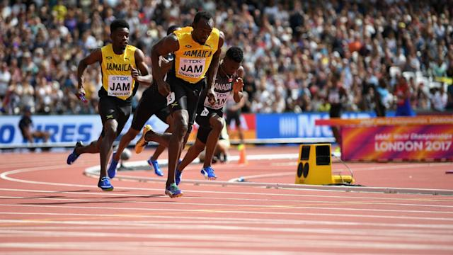 Usain Bolt helped Jamaica qualify for the relay final on Saturday morning, while Kevin Mayer still leads the decathlon.
