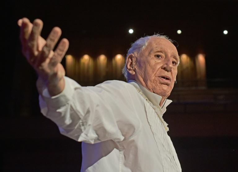 82-year-old Jose Celso Martinez Correa, aka Ze Celso during a performance of Roda Viva in Rio de Janeiro on November 22, 2019