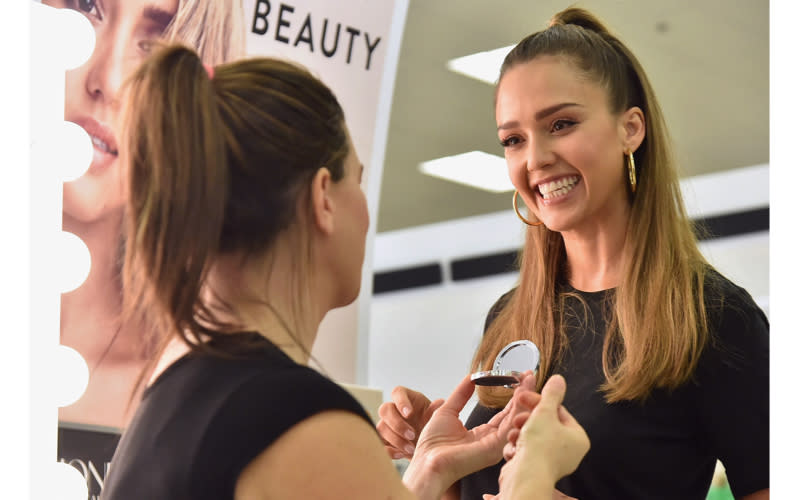 """<p>After founding The Honest Company back in 2011, Jessica Alba eventually ventured into the make-up sphere and it swiftly became the highest performing line – <a rel=""""nofollow noopener"""" href=""""https://www.inc.com/lindsay-blakely/jessica-albas-honest-company-bets-big-on-makeup.html"""" target=""""_blank"""" data-ylk=""""slk:reportedly"""" class=""""link rapid-noclick-resp"""">reportedly</a> experiencing 34% growth in 2017 in comparison to the previous year. In 2019, the beauty line is expected to expand across western Europe thanks to her trustworthy experience. <em>[Photo: Getty] </em> </p>"""
