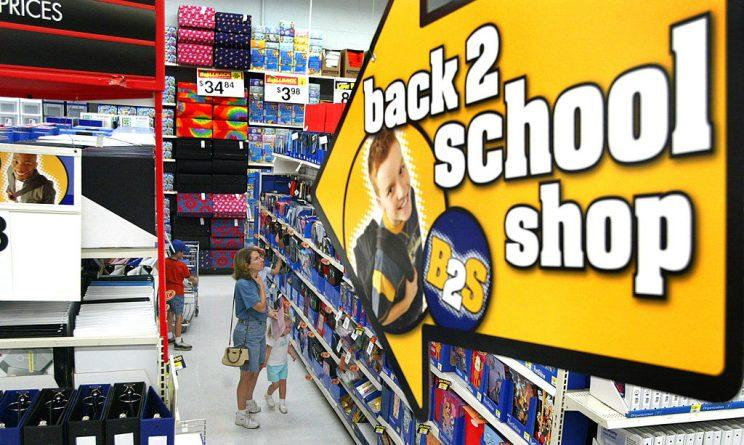 back to school shopping