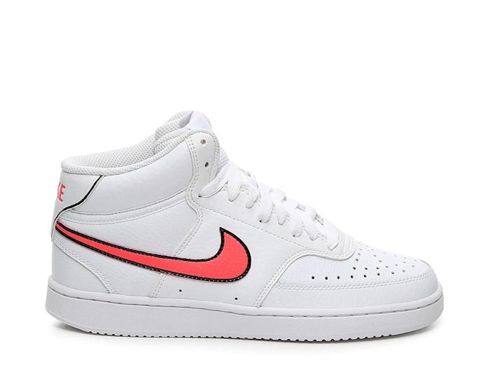 <p>We love the outlined swoosh sign on these <span>Nike Court Vision Sneakers</span> ($75).</p>