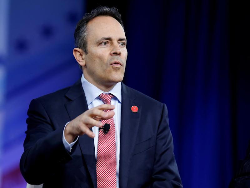 Republican Governor Matt Bevin of Kentucky speaks during the Conservative Political Action Conference (CPAC) in National Harbor, Maryland, US, February 23, 2017: REUTERS