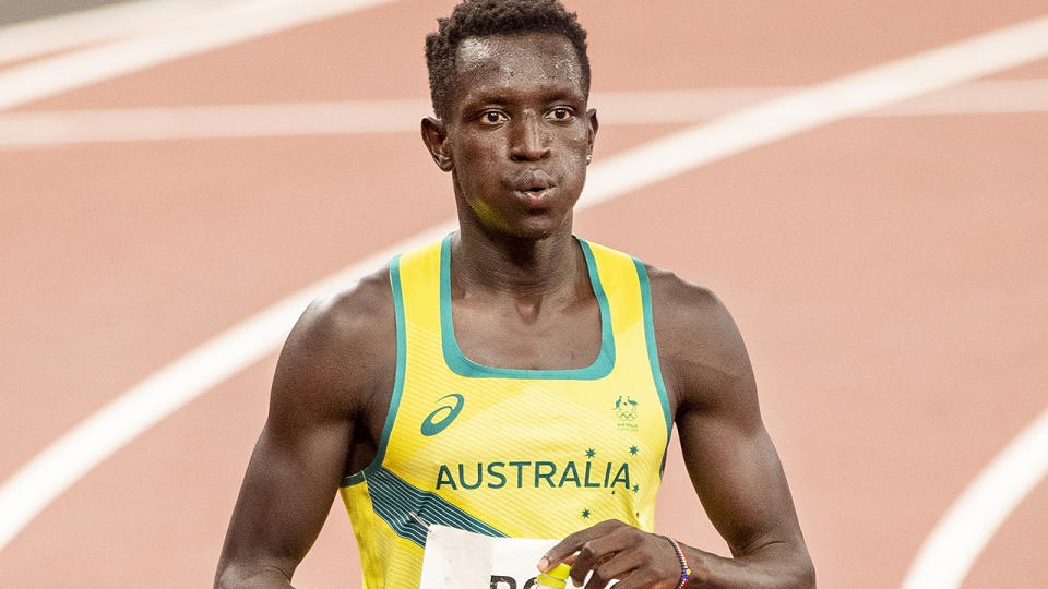Peter Bol, pictured here in action at the Tokyo Olympics.