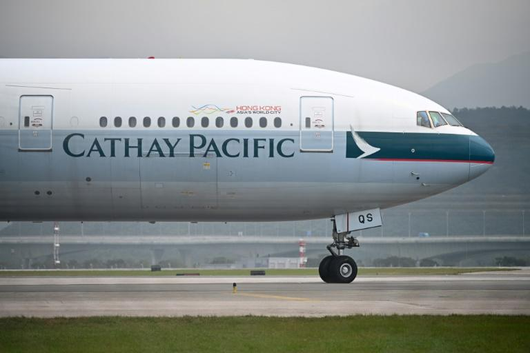 Hong Kong's flagship carrier Cathay Pacific has endured a fierce backlash on the mainland (AFP Photo/Anthony WALLACE)