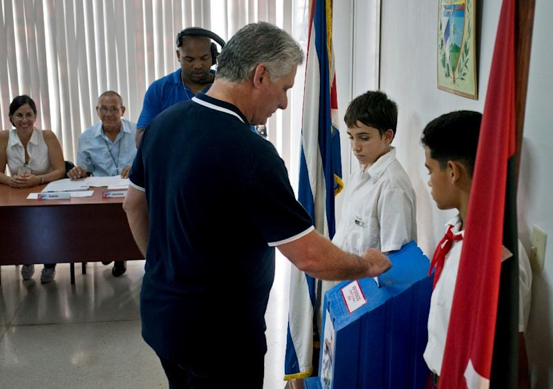 Diaz-Canel's first major project was constitutional reform, adopted February 2019 with 78.3 percent of the vote (AFP Photo/Ramon Espinosa)