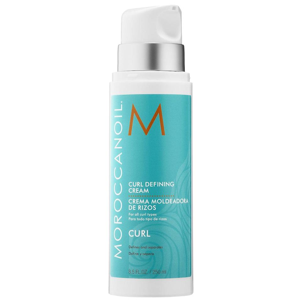 """<p>There are also no stripping sulfates in this argan-oil-packed <a href=""""https://www.popsugar.com/buy/Moroccanoil-Curl-Defining-Cream-580783?p_name=Moroccanoil%20Curl%20Defining%20Cream&retailer=sephora.com&pid=580783&price=14&evar1=bella%3Auk&evar9=47540523&evar98=https%3A%2F%2Fwww.popsugar.com%2Fbeauty%2Fphoto-gallery%2F47540523%2Fimage%2F47540537%2FMoroccanoil-Curl-Defining-Cream&list1=hair%2Csephora%2Cbeauty%20shopping&prop13=api&pdata=1"""" class=""""link rapid-noclick-resp"""" rel=""""nofollow noopener"""" target=""""_blank"""" data-ylk=""""slk:Moroccanoil Curl Defining Cream"""">Moroccanoil Curl Defining Cream</a> ($14-$34). The cream helps activate curls but also features hydrolyzed vegetable protein to coat split ends and restore smoothness. </p>"""