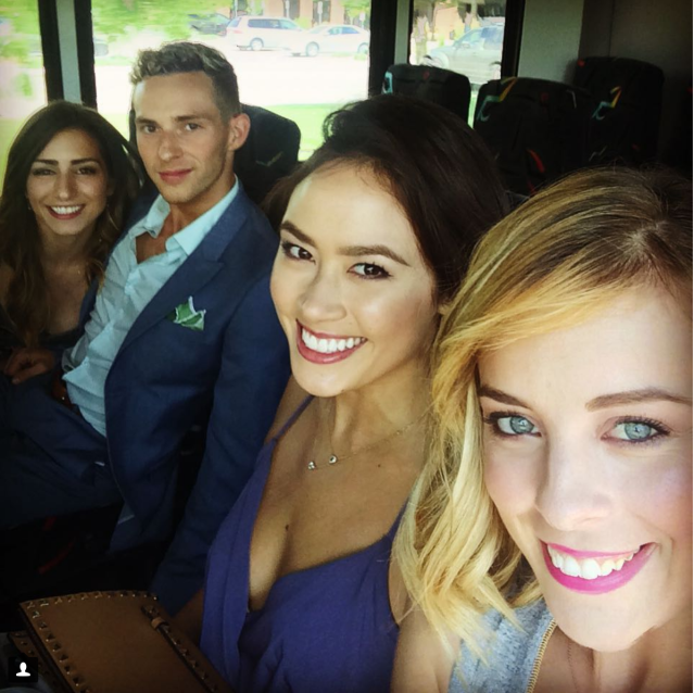 <p>chockolate02: Wedding warriors!!! #fourbestfriends that anyone could have #reneeandlogangethitched (Photo via Instagram/chockolate02) </p>