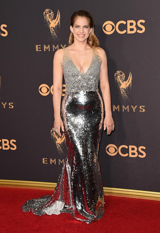 <p>Anna Chlumsky attends the 69th Primetime Emmy Awards on Sept. 17, 2017.<br> (Photo: Getty Images) </p>