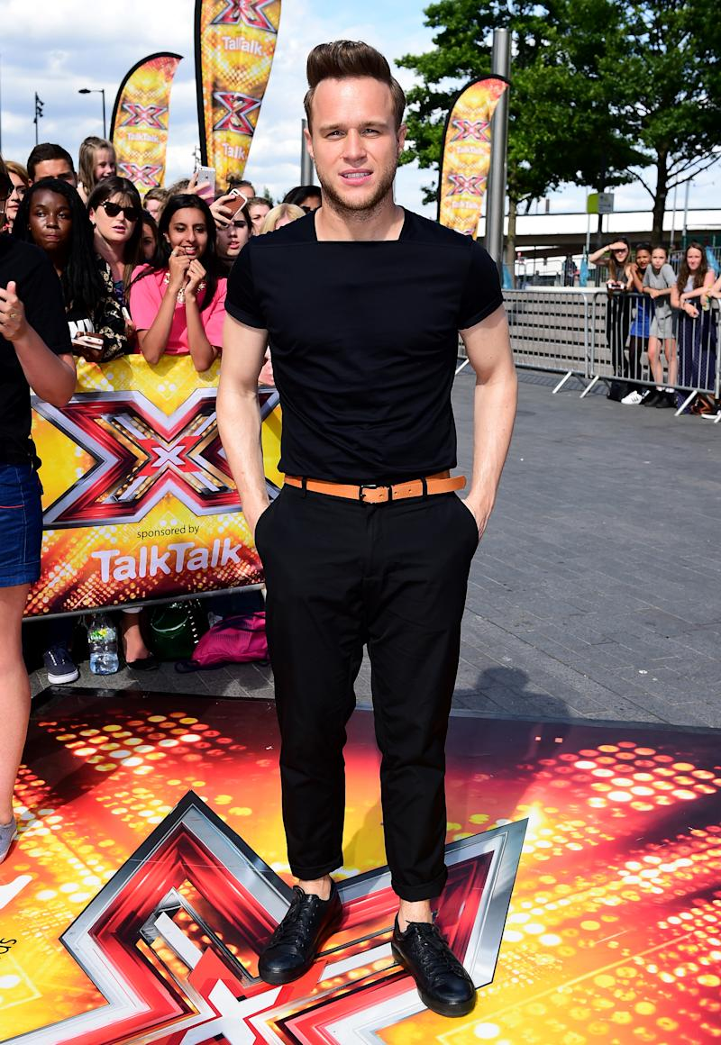 Olly Murs attending the X Factor auditions held at Wembley Arena, London. PRESS ASSOCIATION Photo. Picture date: Tuesday July 21, 2015. Photo credit should read: Ian West/PA Wire