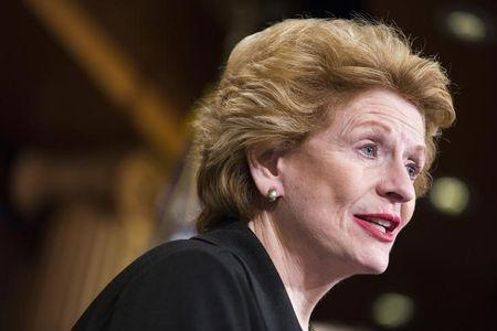 Senator Debbie Stabenow (D-MI) speaks after a vote on legislation for funding the Department of Homeland Security on Capitol Hill in Washington March 2, 2015.    REUTERS/Joshua Roberts