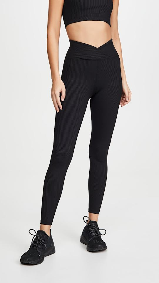 "<p>These <a href=""https://www.popsugar.com/buy/Year-Ours-Veronia-Ribbed-Leggings-541303?p_name=Year%20of%20Ours%20Veronia%20Ribbed%20Leggings&retailer=shopbop.com&pid=541303&price=104&evar1=fit%3Aus&evar9=45667719&evar98=https%3A%2F%2Fwww.popsugar.com%2Fphoto-gallery%2F45667719%2Fimage%2F47118425%2FYear-Ours-Veronia-Ribbed-Leggings&list1=shopping%2Cworkout%20clothes%2Cblack%2Cleggings%2Cathleisure&prop13=api&pdata=1"" rel=""nofollow"" data-shoppable-link=""1"" target=""_blank"" class=""ga-track"" data-ga-category=""Related"" data-ga-label=""https://www.shopbop.com/veronia-ribbed-legging-year-ours/vp/v=1/1539521762.htm?fm=search-viewall-shopbysize&amp;os=false&amp;ref=SB_PLP_NB_2"" data-ga-action=""In-Line Links"">Year of Ours Veronia Ribbed Leggings</a> ($104) are impossibly flattering.</p>"