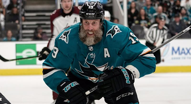 Jumbo Joe sounds like he's ready for another run with the San Jose Sharks. (Stan Szeto-USA TODAY Sports)