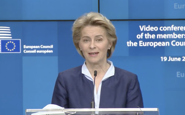 Ursula von der Leyen warned Boris Johnson's government needs to obey EU principles in order to achieve a 'future relationship' deal. (European Commission)