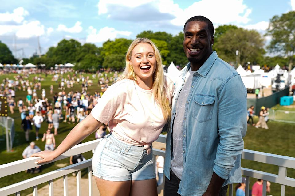 Iskra Lawrence says she was on contraception — and already nearly nine weeks along — when she and partner Philip Payne discovered they had conceived. (Photo: Gonzalo Marroquin/Getty Images for American Eagle)