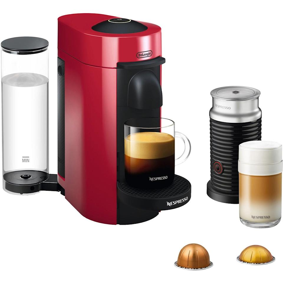 <p>Coffee-lovers will swoon over this <span>Nespresso VertuoPlus Coffee and Espresso Maker Bundle</span> ($192, originally $230).</p>