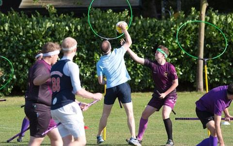 Man playing Quidditch - Credit: Jeff Gilbert
