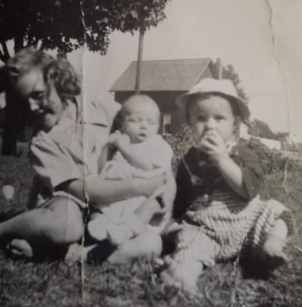 Kathy, Joan and Charlie Gammage as young children. Charlie was fatally hit by a car on May 14, 1986 at the age of 36. (Submitted by Joan Cofell - image credit)