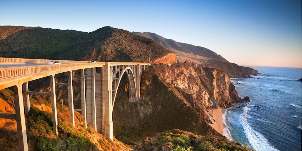 "<p><strong>Best for a Scenic Drive </strong></p><p>If you've seen HBO's <em>Big Little Lies</em>, you've no doubt been blown away by the gorgeous cliff-hugging backdrops, especially around Bixby Bridge, the iconic 280-foot-high span on the Pacific Coast Highway. This jaw-dropping stretch from Carmel to the boho hangout of Big Sur is surely one of the <a href=""https://www.bestproducts.com/fun-things-to-do/g3483/scenic-drives-road-trips-in-america/"" rel=""nofollow noopener"" target=""_blank"" data-ylk=""slk:world's greatest scenic drives"" class=""link rapid-noclick-resp"">world's greatest scenic drives</a>. </p><p><strong><em>Where to Stay: </em></strong><a href=""https://www.tripadvisor.com/Hotel_Review-g32737-d472047-Reviews-Portola_Hotel_Spa_at_Monterey_Bay-Monterey_Monterey_County_California.html"" rel=""nofollow noopener"" target=""_blank"" data-ylk=""slk:Portola Hotel & Spa"" class=""link rapid-noclick-resp"">Portola Hotel & Spa</a>, <a href=""https://www.tripadvisor.com/Hotel_Review-g32172-d498277-Reviews-Comfort_Inn_Carmel_By_The_Sea-Carmel_Monterey_County_California.html"" rel=""nofollow noopener"" target=""_blank"" data-ylk=""slk:Comfort Inn Carmel-by-the-Sea"" class=""link rapid-noclick-resp"">Comfort Inn Carmel-by-the-Sea</a></p>"