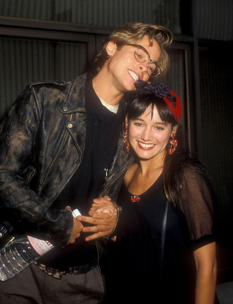 <p>In June 1988, Pitt stepped out with a new girlfriend, Jill Schoelen, at the Los Angeles premiere of <em>Red Heat</em>. The couple met on the set of <em>Cutting Class</em>, making it Pitt's second (but certainly not last) time he fell in love with a costar.</p>
