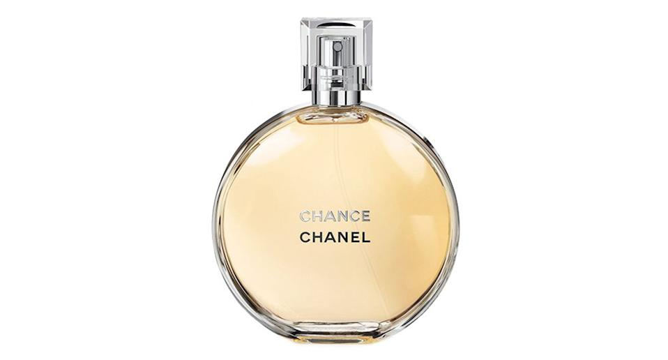 """A cult classic fragrance, Chanel Chance is beloved by almost every mum we've ever met. <a href=""""https://fave.co/313ET4d"""" rel=""""nofollow noopener"""" target=""""_blank"""" data-ylk=""""slk:Shop now."""" class=""""link rapid-noclick-resp""""><strong>Shop now.</strong></a>"""