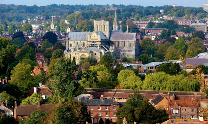 Winchester Cathedral, where Jane Austen was buried.