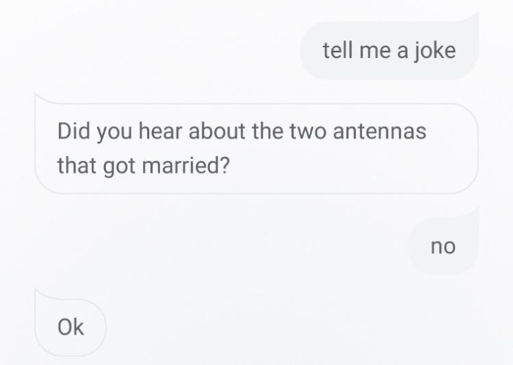 person telliing a joke with no punchline