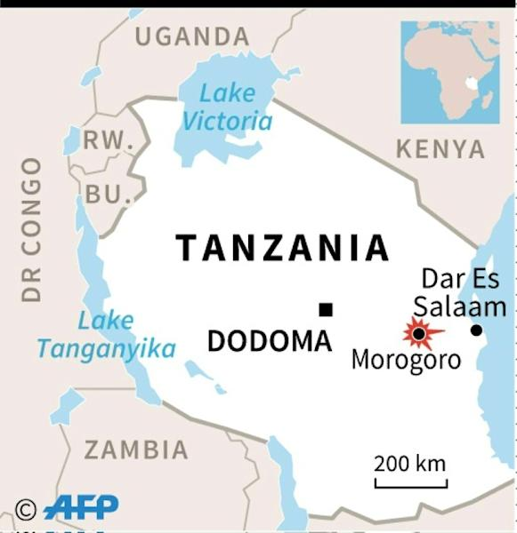 Map of Tanzania locating Morogoro