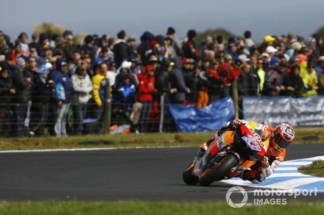 "Casey Stoner, Repsol Honda <span class=""copyright"">Gold and Goose / Motorsport Images</span>"
