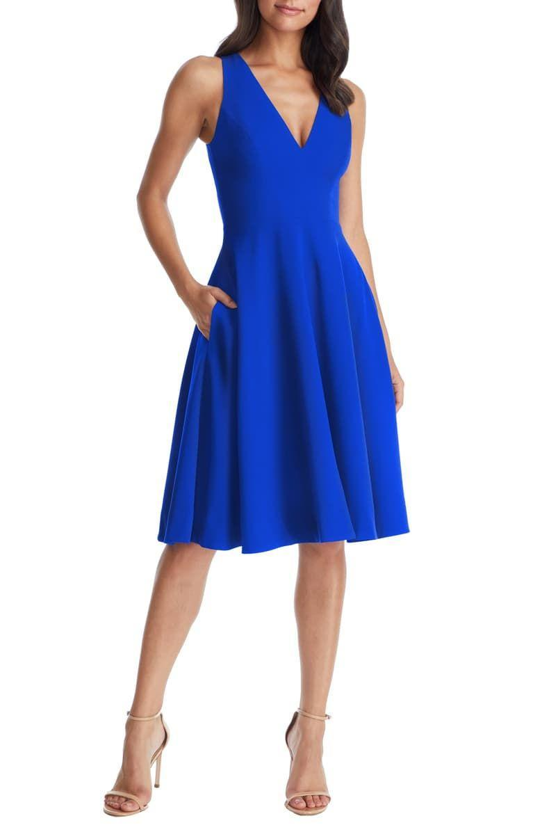 """<p><strong>Dress the Population</strong></p><p>nordstrom.com</p><p><strong>$182.00</strong></p><p><a href=""""https://go.redirectingat.com?id=74968X1596630&url=https%3A%2F%2Fshop.nordstrom.com%2Fs%2Fdress-the-population-catalina-tea-length-fit-flare-dress%2F4937787&sref=http%3A%2F%2Fwww.townandcountrymag.com%2Fstyle%2Ffashion-trends%2Fg26522706%2Fbest-dresses-for-older-women%2F"""" rel=""""nofollow noopener"""" target=""""_blank"""" data-ylk=""""slk:Shop Now"""" class=""""link rapid-noclick-resp"""">Shop Now</a></p><p>The fitted top of this breezy dress highlights your arms and shows off your waist without constricting your movement: ideal for a night of drinks and dancing. </p>"""