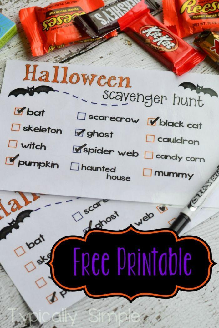 """<p>Hide a variety of items throughout your home, and ask the kids to find them all. The winner can receive extra candy ... or perhaps a delicious, nutritious piece of fruit? </p><p><em><a href=""""https://typicallysimple.com/halloween-scavenger-hunt-free-printable/"""" rel=""""nofollow noopener"""" target=""""_blank"""" data-ylk=""""slk:Get a free printable at Typically Simple »"""" class=""""link rapid-noclick-resp"""">Get a free printable at Typically Simple »</a></em></p>"""