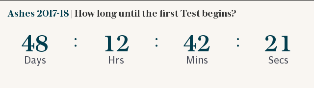 Ashes 2017-18 | How long until the first Test begins?