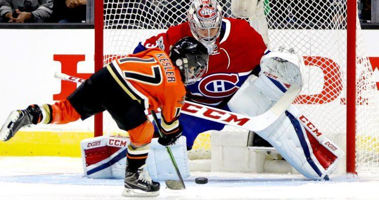 <em>Carey Price's humongous five-hole left plenty of room for Ryan Kesler's son to score during the NHL All-Star shootout.</em>