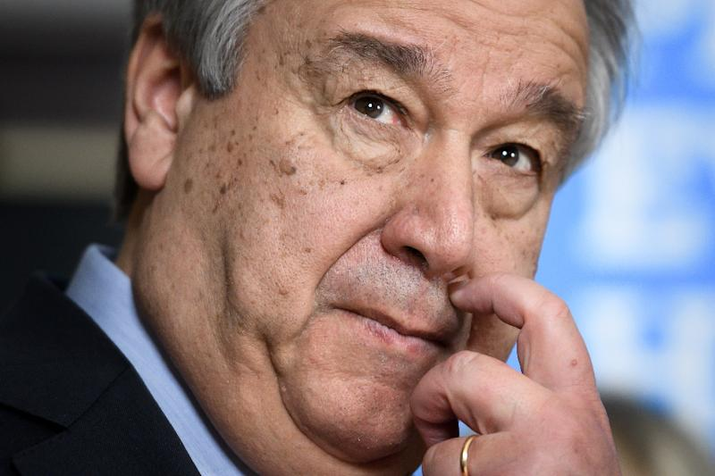 UN Secretary General Antonio Guterres, in a file image, urged peace treaty parties in CAR to pick up pace