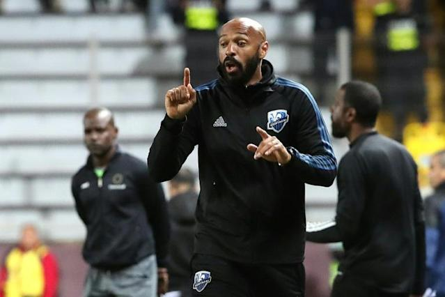 Thierry Henry's Montreal Impact reached the quarter-finals of the CONCACAF Champions League after a 0-0 draw with Deportivo Saprissa of Costa Rica (AFP Photo/John DURAN)
