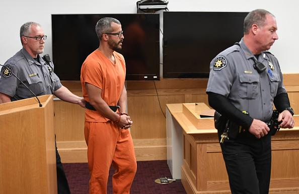 Christopher Watts is in court for his arraignment hearing at the Weld County Courthouse in Greeley, Colorado.