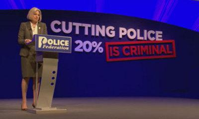 Home Secretary Heckled By Police Over Cuts