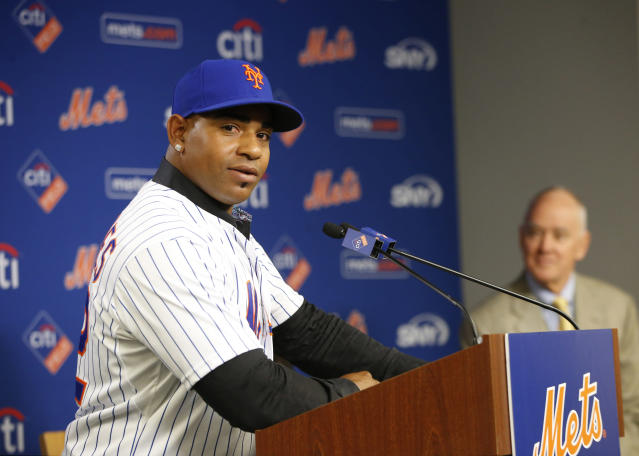 Yoenis Cespedes has missed a fair amount of games since signing his last deal with the Mets. (AP Photo)