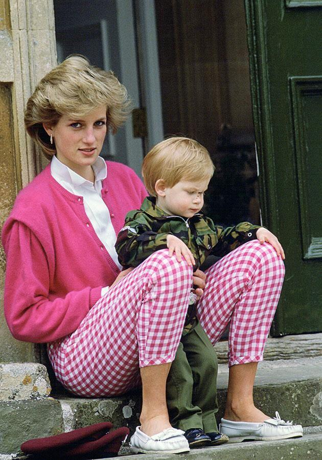 Diana was often photographed in bright pink. Photo: Getty.